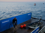 Mary Lee aboard the 126-foot research vessel, M/V OCEARCH on Sept. 17.