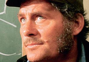 "The great Robert Shaw played Captain Quint. Here's just one of many memorable lines of his from JAWS: ""Sometimes that shark looks right into ya. Right into your eyes. And the thing about a shark is he's got lifeless eyes. Black eyes. Like a doll's eyes..."""
