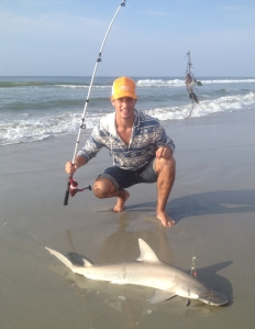 Wes Montgomery of Elizabethton, Tennessee, caught this bonnethead shark in Myrtle Beach. The bonnethead is in the hammerhead shark family.