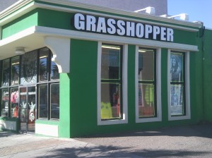 I insisted on taking this photo when strolling previously with Master Po. I'd intended on using a photo of this morning's sunrise, but my camera had a little case of red eye. Grasshopper is on Ocean Boulevard in downtown Myrtle Beach.